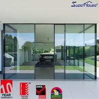 High quality aluminium profile double sided sliding door pocket door slide