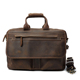 Large luxury men crazy horse leather business travel bag