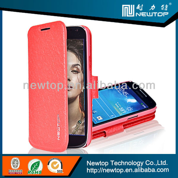 cheap phone case for samsung galaxy s4 with windows and sleep function