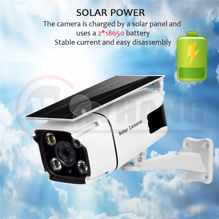 Solar Power IP Camera 1080P HD Wireless WIFI Surveillance Security Camera Outdoor Waterproof IR Night Vision