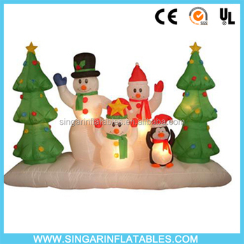 home decor led light up christmas tree penguin and snowman for indoor christmas decoration