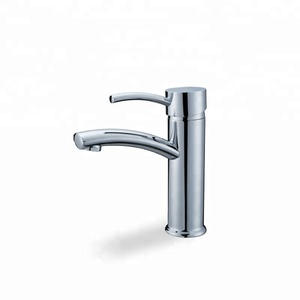 High Quality low price arc design single handle bathroom sink faucet wash hand basin deck mounted mixer brass cold round tap