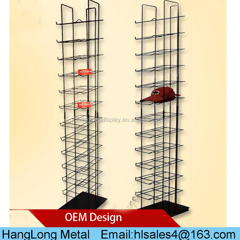 customized durable large capacity helmet display rack stand