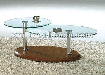 Lovely Movable Coffee Table With Extension Bend Glass Top SC 5111 Part 9