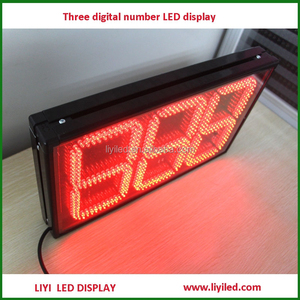 day countdown clock 3 digit timer LED digital clock red display / small led clock display