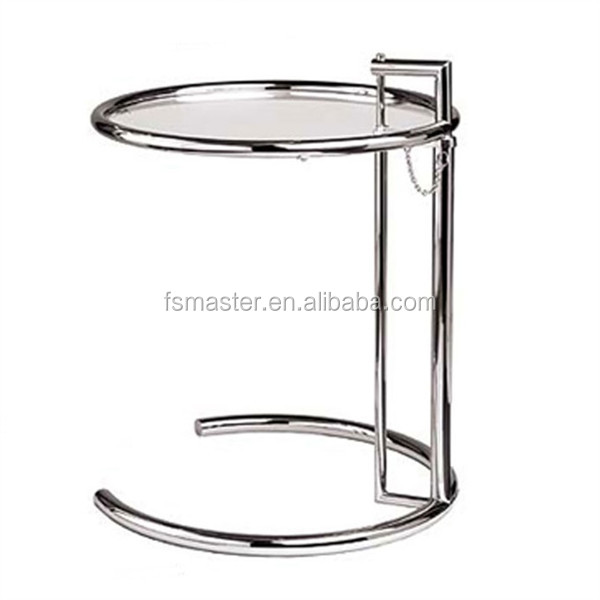 two layers glass small cafe Eileen Gray side <strong>table</strong>