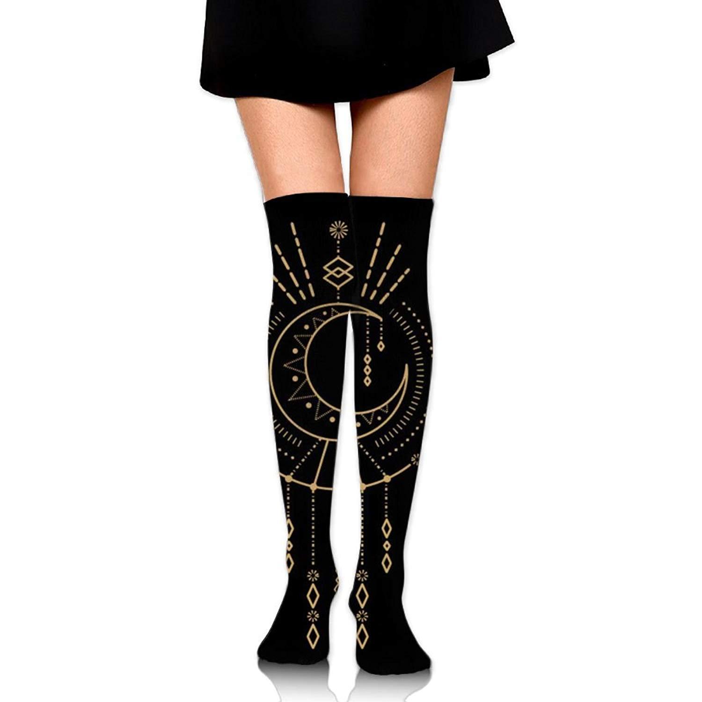 Zaqxsw Compass Women Unique Thigh High Socks Cotton Socks For Womens