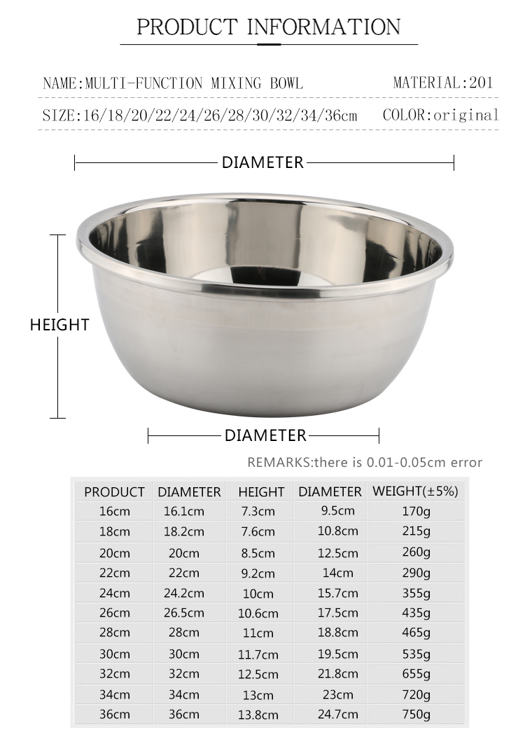 Yuantai factory wholesale stainless steel mixing bowl set double wall stainless steel bowl for holding food