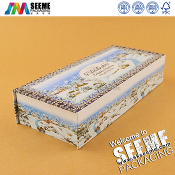 Luxury Customized Decorative Christmas Paper Small Gift Box For Sale