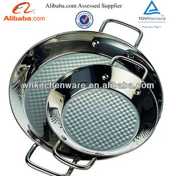 8 to 14 Inch Stainless Steel Paella Pot