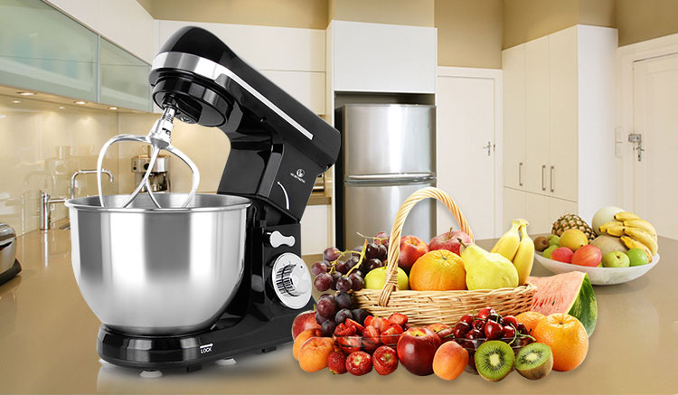 multi-function 1000W electric kitchen appliance for dough kneading stand mixer 5L