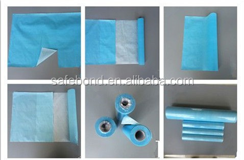 hospital paper bed roll disposable bed sheet rolls for hotel/home/hospital use