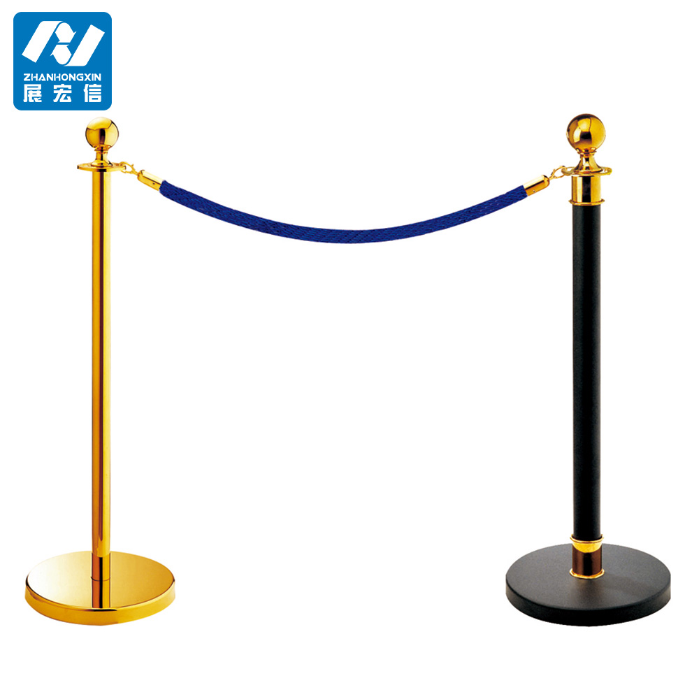 Customized queue rope post/barrier /barricade pole/railing stand