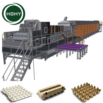 Paper Pulp Molding Machinery Used Egg Tray Production Line
