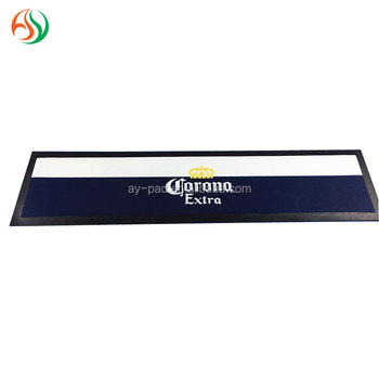AY OEM Designs Bar Beer Drip Mat Silicone Bar Mat Bordered Bar Runner, Drinking Straws For Barware, Nitrile Rubber Bar Runner