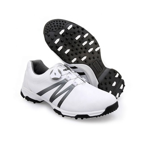 New Korea Style Waterproof Leather Golf shoes