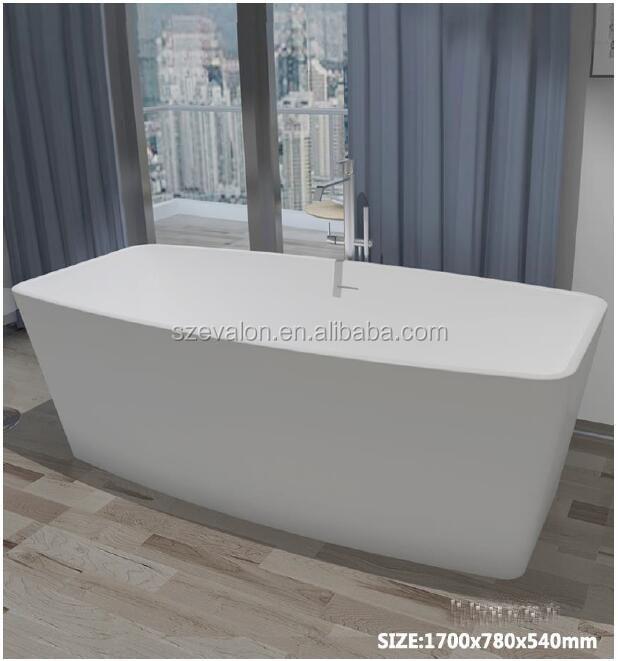 Cheap Poly Resin Stone Acrylic Freestanding Shallow Bathtub ...