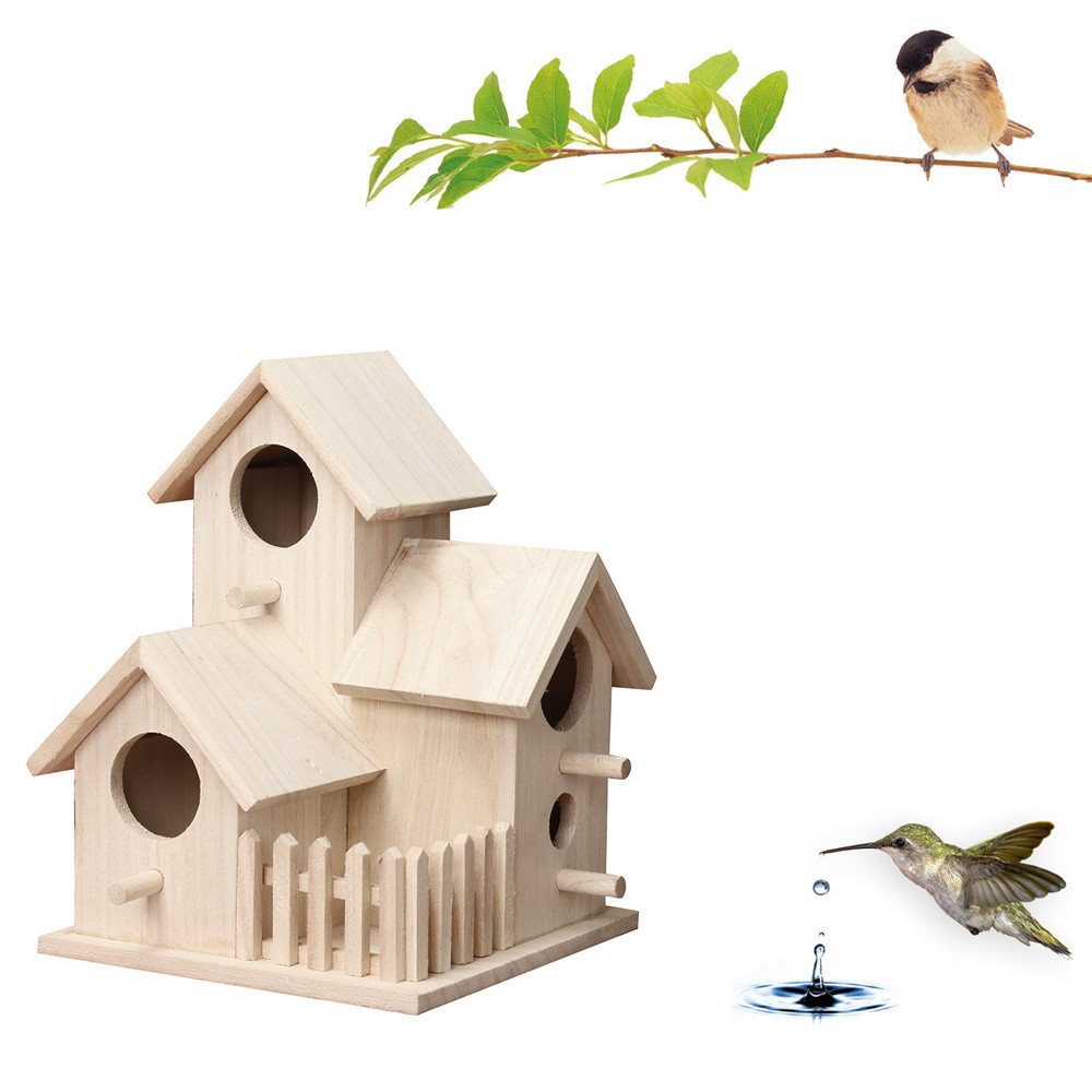 Bird Nest Woven Natural Straw Pet Parrot Swallow Small Habitat House Cage