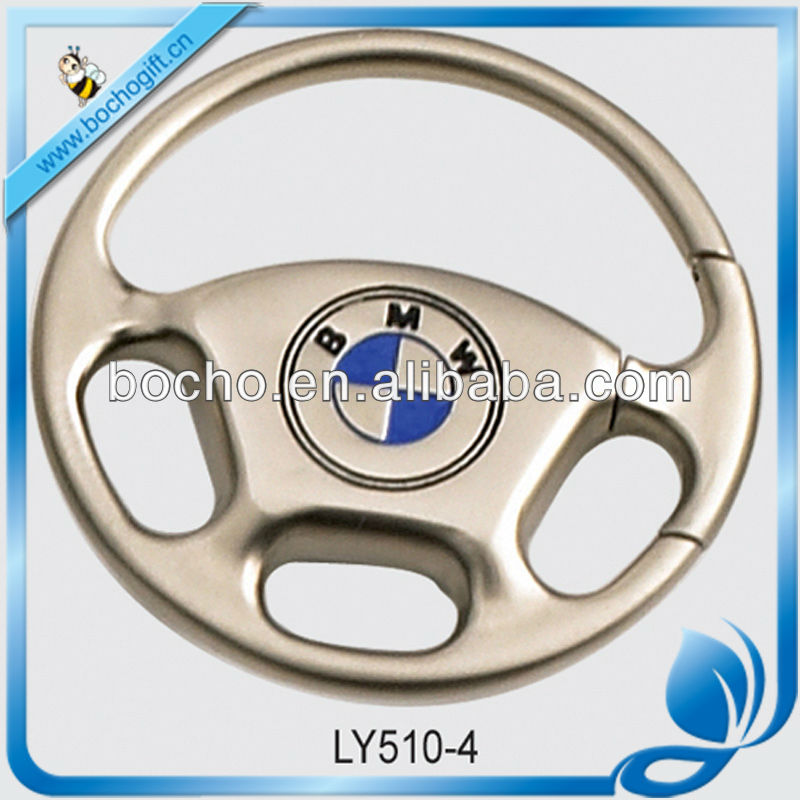 steering wheel shaped alloy key holder