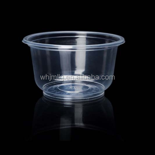 500ml 16oz Transparent Round One Time Lunch Box
