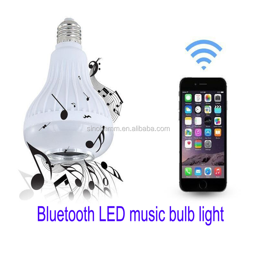 Bluetooth Music Bulb RGB-Color Changing LED Light Speaker B22/E27 Bulb With Built-in Bluetooth Speaker