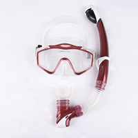 High quality multiple colors adjusted classical full face scuba diving mask snorkelling set