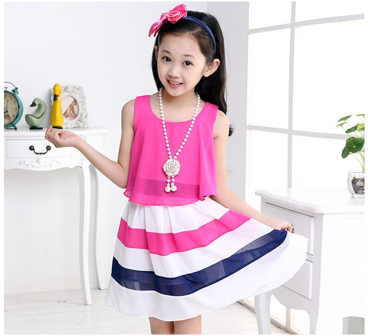 6fb11657967 Get Quotations · Kids 2015 summer new spell color girls dress