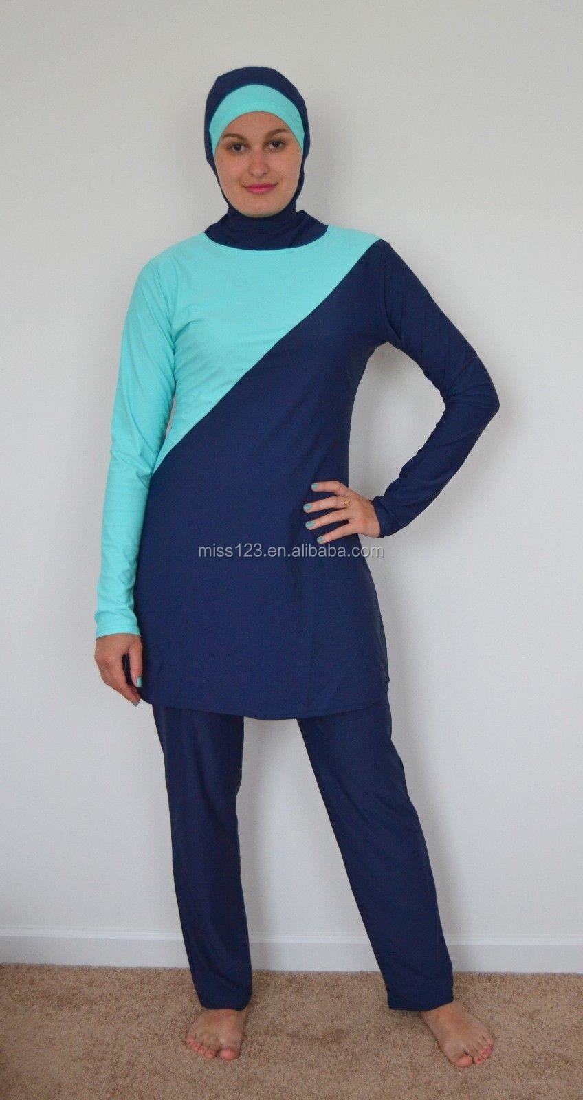 Top Nouveau D'été Musulman Maillots De Bain Islamique Hijab Maillot De  LI81