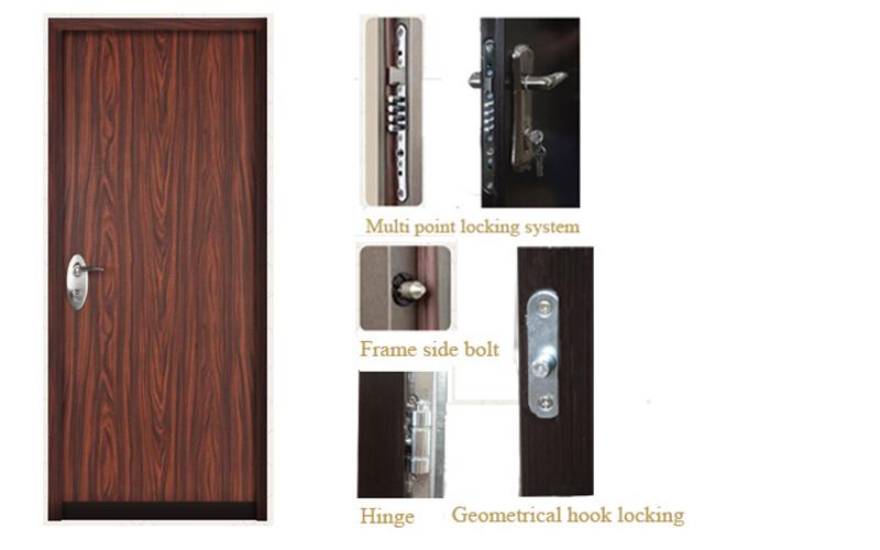 High Quality Bullet Proof Steel Security Door Bullet