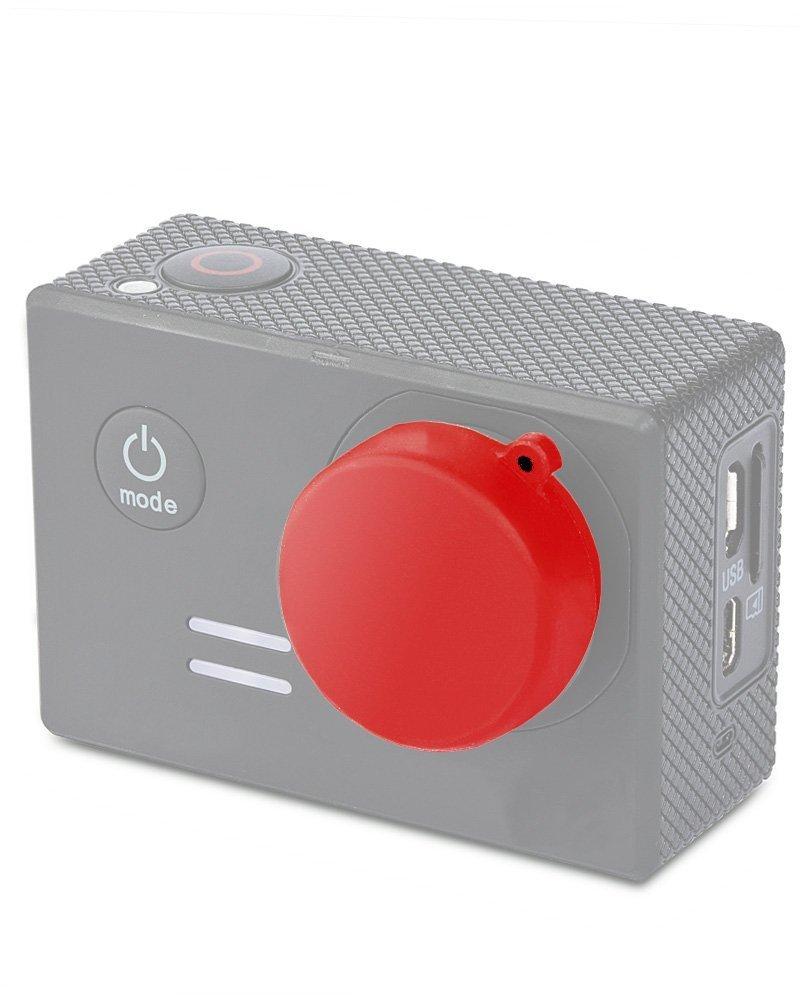 Fosmon Silicone Lens Cap for GoPro HERO3 / HERO3+ / HERO4 Black / HERO4 Silver / Xiaomi Yi (Red)