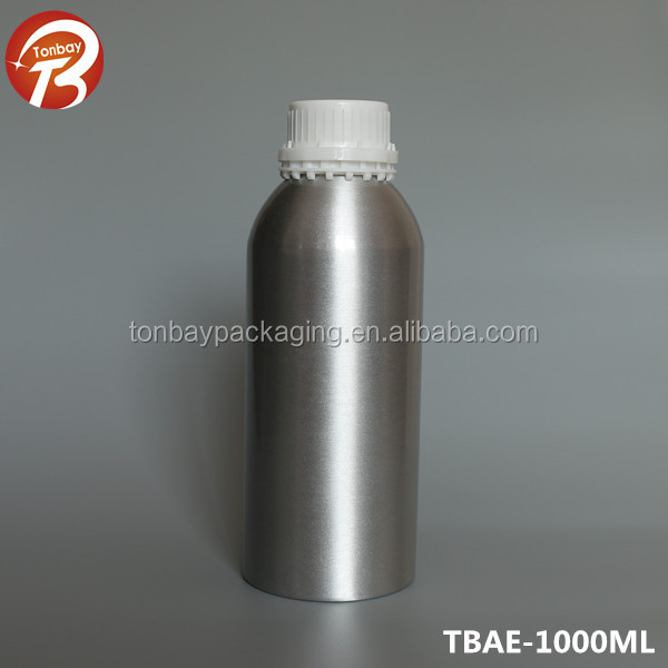 1000ml 1L aluminum essential oil Bottle with tamper evident cap