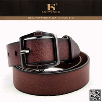 Hot selling excellent quality different types cheap tan leather strap belt