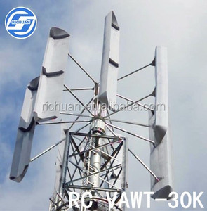 30 kw Vertical axis wind turbine low rpm generator residential wind