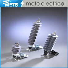 China supplier METO high voltage MT-YH5W-9 lightning flame arrester pole