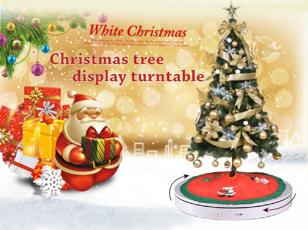 West Style Christmas Plastic Turntable Cefc3d Rotating Display