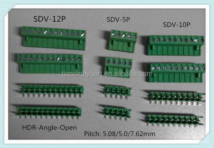 5.08mm Pitch Pluggable Terminal Block XS2ESDV 300V 15A 5.08mm Pitch with UL, CE, ISO, SGS,CQC Approved