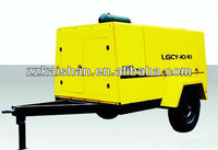 Price of air compressor/145psi 10bar Diesel Driven Portable Screw Air Compressor For Mining/ Industrial (LGCY-10/10)