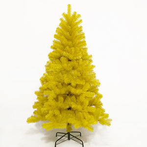 Wholesale Cheap Decorated Yellow Mini Artificial Christmas Tree