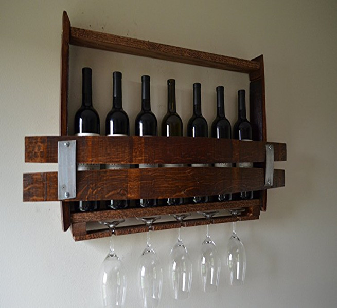Wooden Wine Barrel Wine Glass Bottle Holder Display Rack Buy Wine
