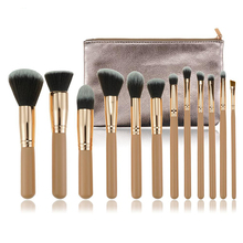 GK 2019 Hoge Kwaliteit Rose Gold Groothandel Make-Up Kwasten Set Top Selling 12 pcs Classic Facial Oogschaduw Make Up Borstels met Zak