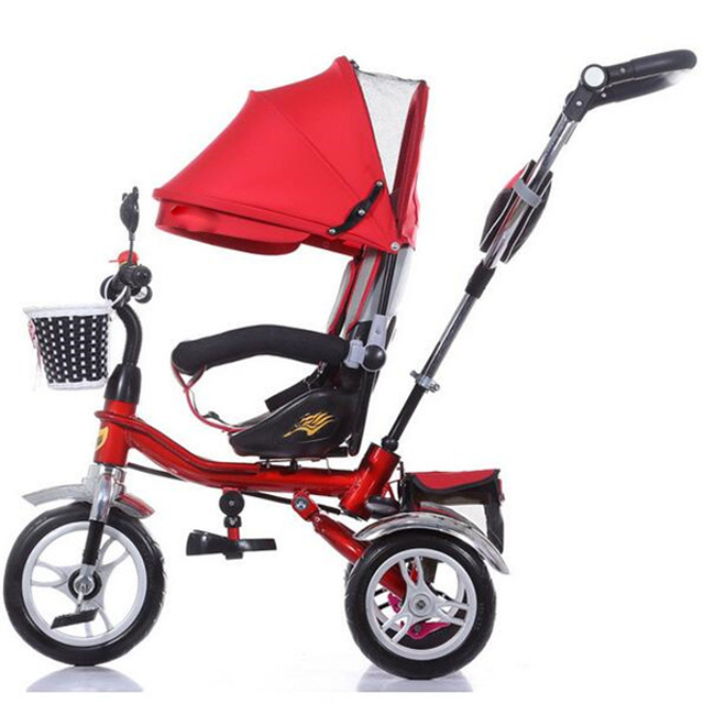 China Factory 4 in 1 Trike Baby Tricycle Kid Tricycle for Toddler with Adjustable Seat Stroller Ride On car
