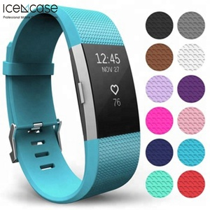 Amazon hot selling Strap For Fitbit Charge 2 Watch Band,Soft Silicone Sport Watch Strap Band Replacement for Fitbit Charge 2