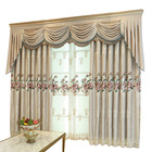 Latest Curtain Fashion Designs Jacquard Printed Valance Fabric,Europa Stage Decoration Backdrop Curtain Beads Wooden Door#