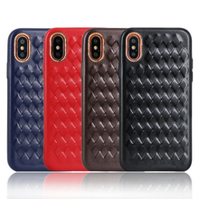 woven leather phone case , mobile phone case for iPhone 6, for iPhone 6 mobile phone case accessories factory in China