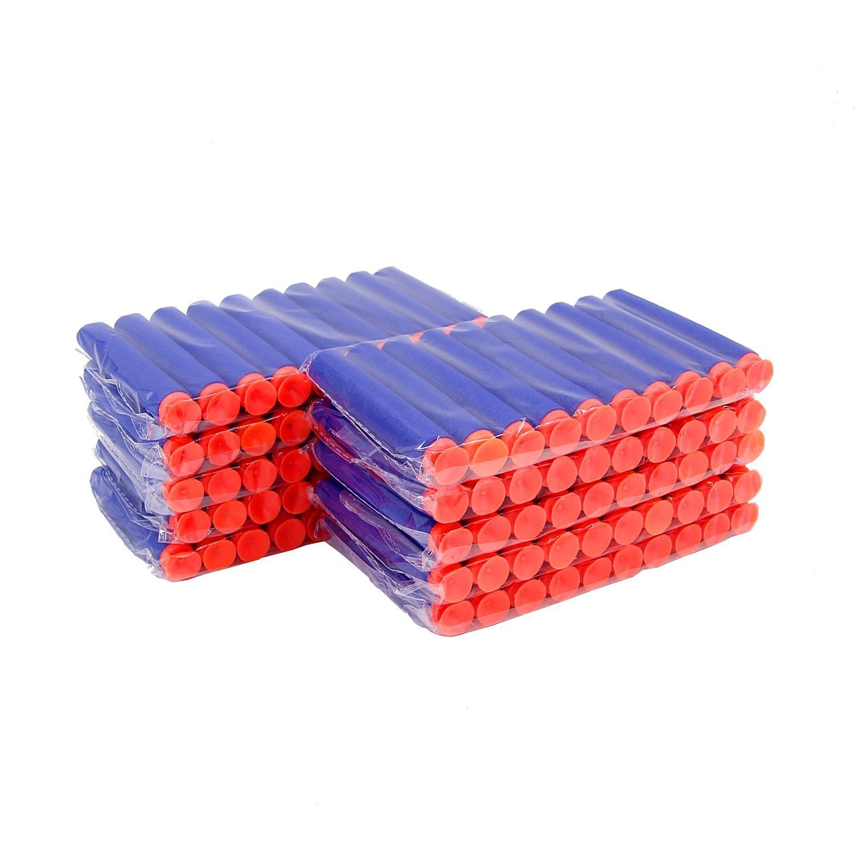 Blue Bullet Darts for Nerf N-strike Elite Series Blasters Suction disk soft bullet 7.2cm (200 Darts)