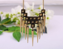 Long Spike Jewellery Antique Women 2016 Punk Men Necklace