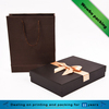 2016 new design coffee color cardboard gift box and paperboard bag sets