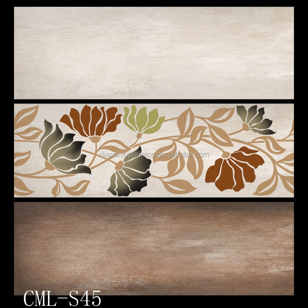 Flower Design Wall Tile 3d Ceramic Tile India Bathroom