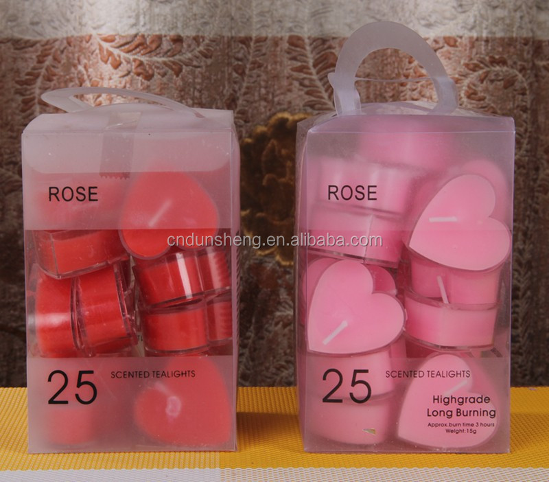 25 chinese promotional craft scent tea candle for party celebrate