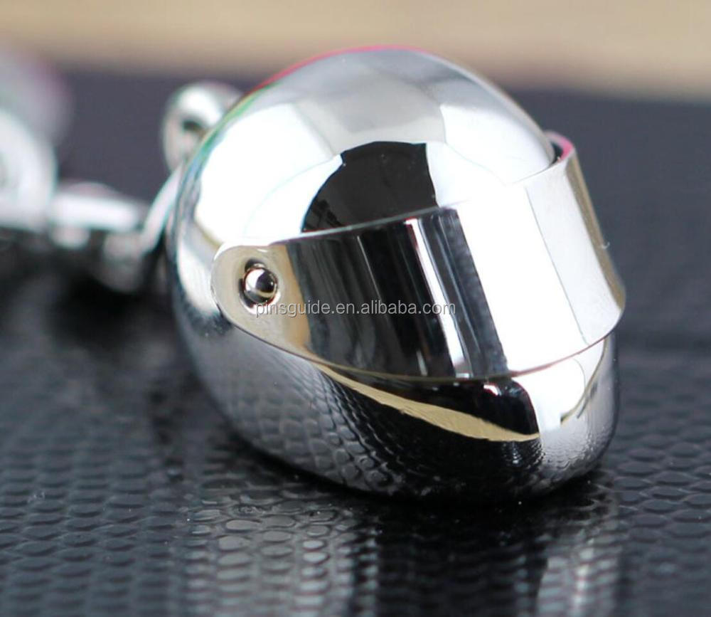 Full 3D metal motorcycle helmet keychain Superior quality Promotional Gift Keyring